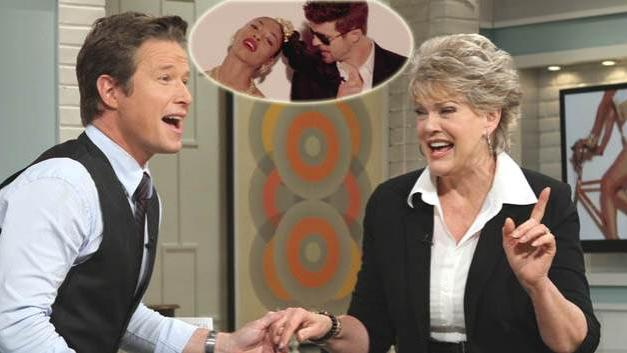 Gloria Loring (Robin Thicke's mom) on Access Hollywood Live, August 21, 2013 -- Access Hollywood