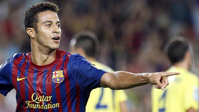 Bundesliga - Guardiola confirms Thiago interest, attacks Barca president