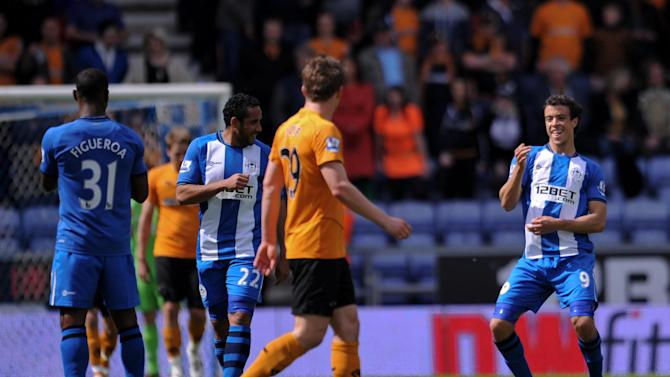 Franco Di Santo (right) celebrates