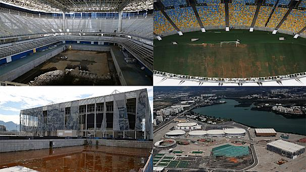 Six Months On Rio Olympic Venues Lie Derelict Watch The