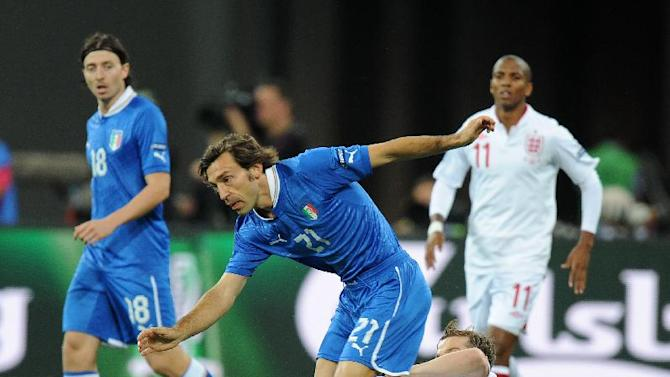 Andrea Pirlo (front) said Germany will be a far bigger threat to Italy than England were