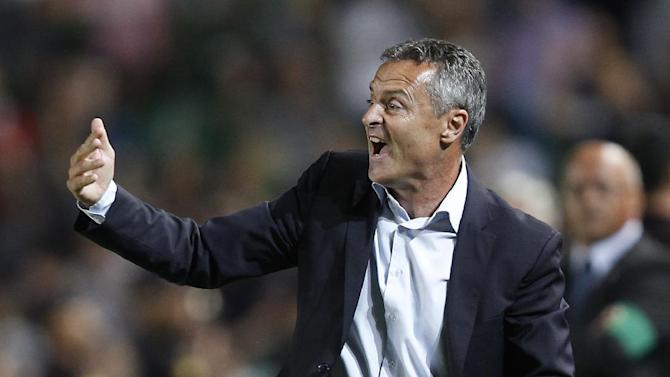 Elche's coach Francisco Escriba Segura gives directions to players during their La Liga soccer match against Real Madrid at the Martinez Valero stadium in Elche, Spain, Wednesday, Sept. 25, 2013