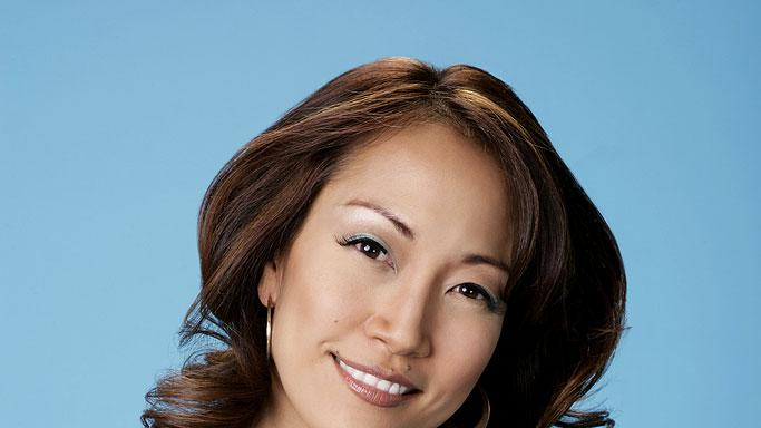 Dancer/choreographer  Carrie Ann Inaba judges the dancers on the ABC Television Network's Dancing with the Stars
