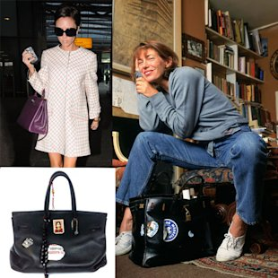 Victoria Beckham out-Birkins Jane Birkin...so she gets customising!