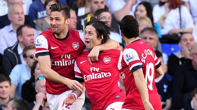 Premier League - Rosicky rocket settles derby in Arsenal's favour