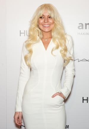 Lindsay Lohan attends the amfAR New York Gala To Kick Off Fall 2012 Fashion Week at Cipriani Wall Street in New York City on February 8, 2012 -- Getty Premium