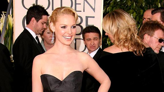 Katherine Heigl at the 64th annual Golden Globe Awards.