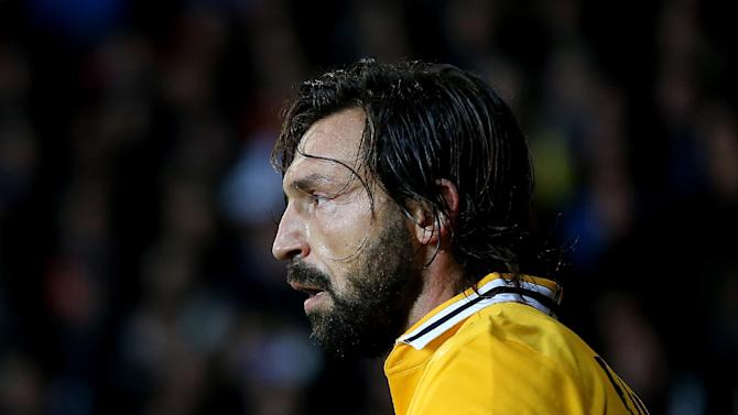 Juventus' Andrea Pirlo, during their Champions League Group B soccer match against FC Copenhagen at Parken Stadium, Copenhagen, Denmark, Tuesday Sept. 17, 2013