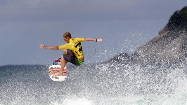 Surfing - Florence wins third straight Volcom Pipe Pro title