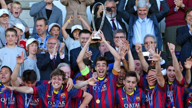 FC Barcelona win the UEFA Youth League title