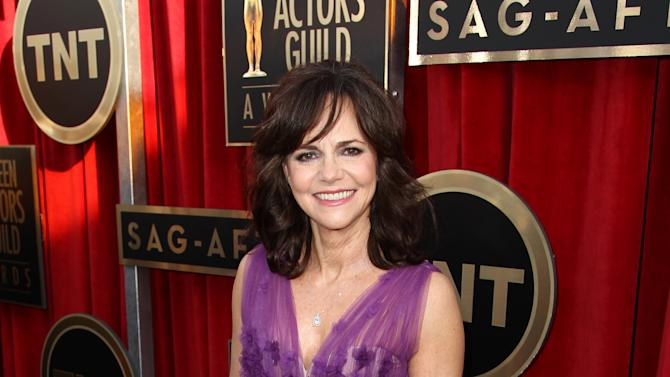 Actress Sally Field arrives at the 19th Annual Screen Actors Guild Awards at the Shrine Auditorium in Los Angeles on Sunday, Jan. 27, 2013. (Photo by Matt Sayles/Invision/AP)