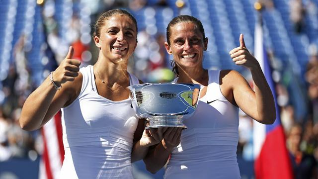 Errani and Vinci win US Open doubles