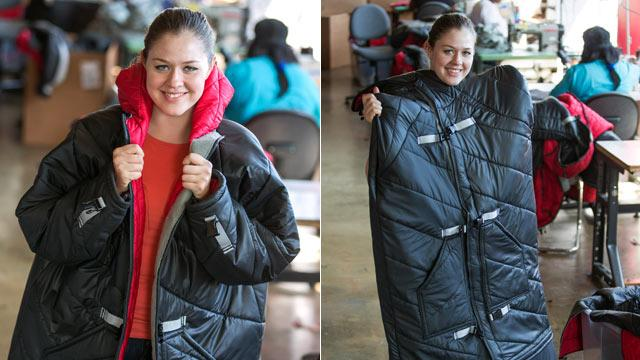 Sleeping-Bag Coats Warm, Employ Detroit Homeless