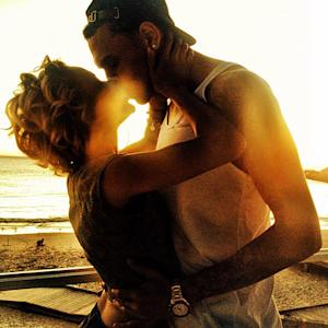 Karrueche Tran, Chris Brown Kiss Passionately in Sunset Pic