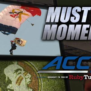 GoPro Skydiving: U.S. Vet Parachuters Deliver Ball | ACC Must See Moment