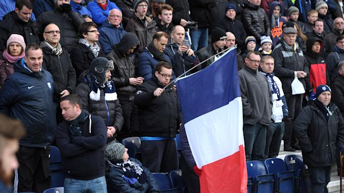 Preston North End fans with a France flag