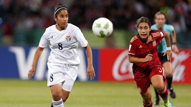 Football Soccer - Jordan vs Spain - U-17 Women's World Cup - Amman, Jordan