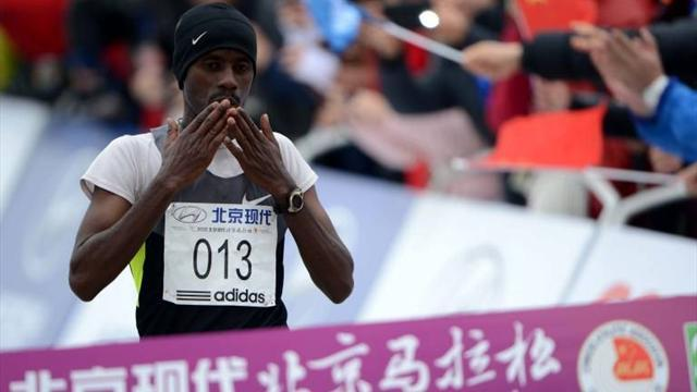 Athletics - Jufar wins Beijing marathon in tough conditions