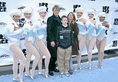 Premiere: Denis Leary and family with Rockettes at the Radio City Music Hall premiere of Ice Age - 3/10/2002