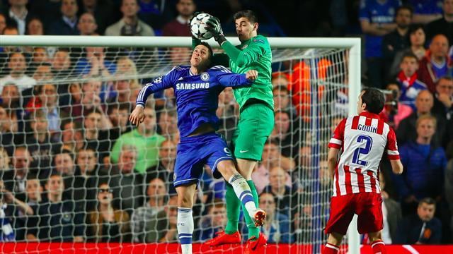 Champions League - Courtois shines as he shuts out parent club Chelsea