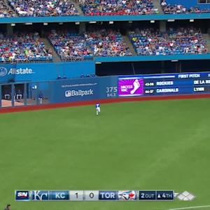 Revere's jumping catch in debut