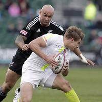 England will be without Tom Mitchell, right, for their clash against Argentina in the Dubai Sevens after he broke his leg