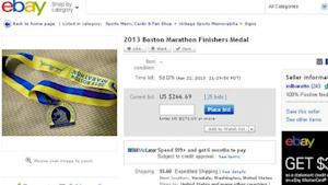 Boston Marathon Bombing Memorabilia Hits eBay