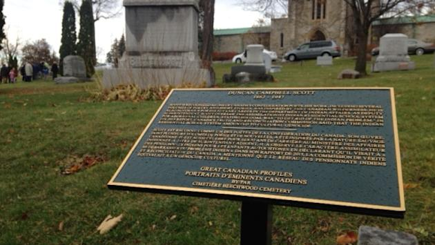 Duncan Campbell Scott plaque now includes his past creating residential schools