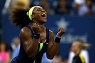 Serena Williams vibra ao conquistar o US Open no USTA Billie Jean King National Tennis Center