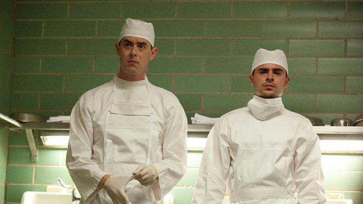 "This film image released by Exclusive Media Entertainment shows Colin Hanks, left, and Zac Efron in a scene from ""Parkland."" (AP Photo/ Exclusive Media Entertainment, Claire Folger)"