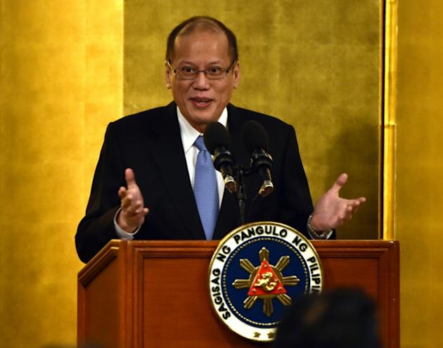 Philippine President Benigno Aquino, pictured on June 4, 2015, said that China had proposed the joint development of the South China Sea while at the same time claiming almost all of the strategically