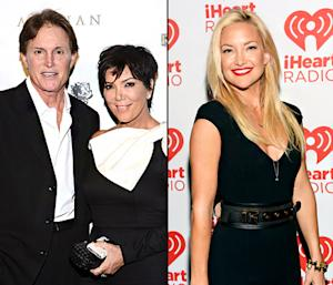 "Bruce Jenner Receives Award From Kris Jenner, Explains Ponytail; Kate Hudson Says She ""Can't Afford"" Red Carpet Gowns: Top 5 Stories"