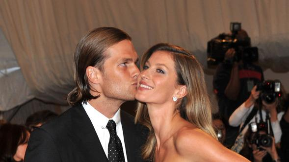 "NFL Player Tom Brady Of The New England Patriots And Model Gisele Bundchen Attend The ""Alexander McQueen: Savage Getty Images"