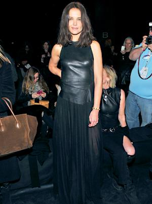 Katie Holmes Sexes Up Fashion Week 2014 in See-Through Skirt