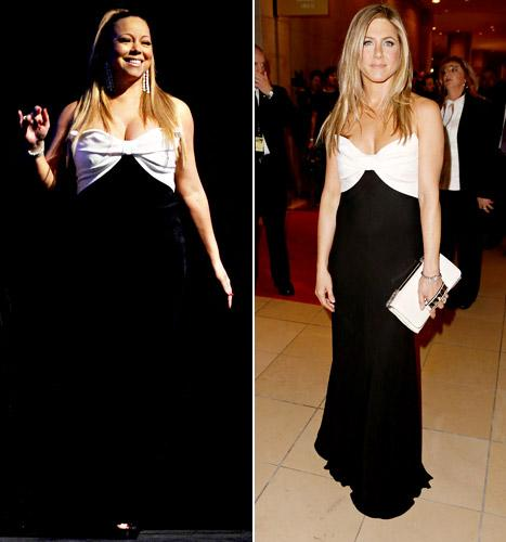 Mariah Carey and Jennifer Aniston Wear the Same Valentino Dress