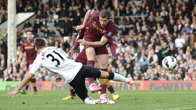 Premier League - Dzeko gives Manchester City win at Fulham