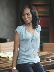 "In this publicity image released by ABC, Kerry Washington is shown in a scene from the series ""Scandal,"" airing Thursdays at 10 p.m. EST on ABC. (AP Photo/ABC, Randy Holmes)"