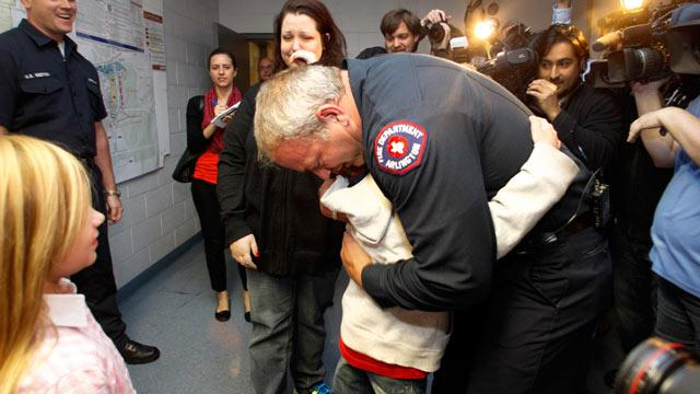 Abandoned Boy Reunited with Fireman Who Found Him
