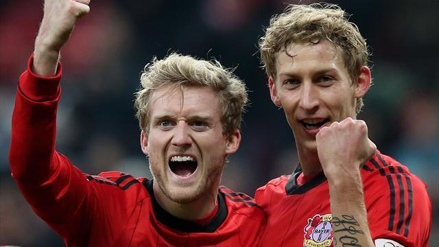 German Bundesliga  - Leverkusen beat Nuremberg to tighten hold on second spot