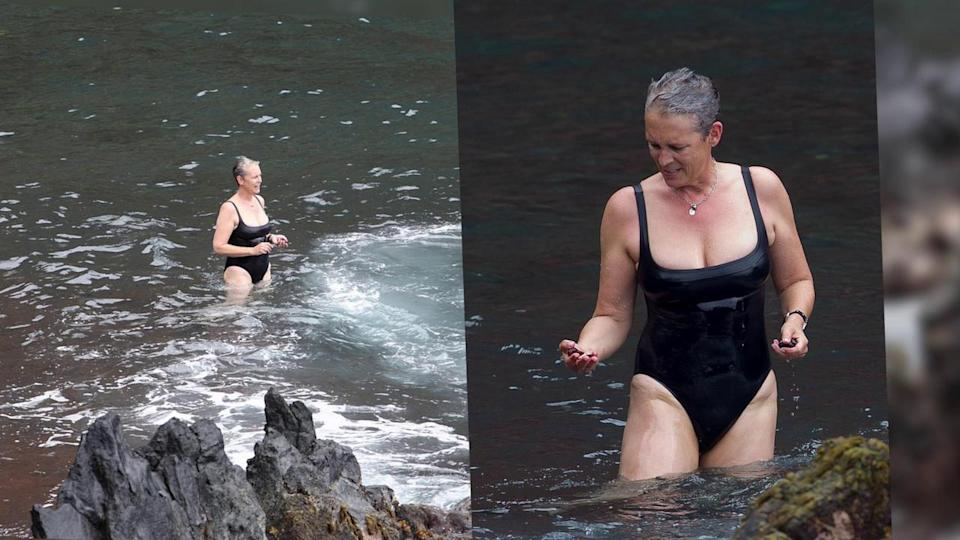Jamie Lee Curtis Rocks a Swimsuit in Hawaii