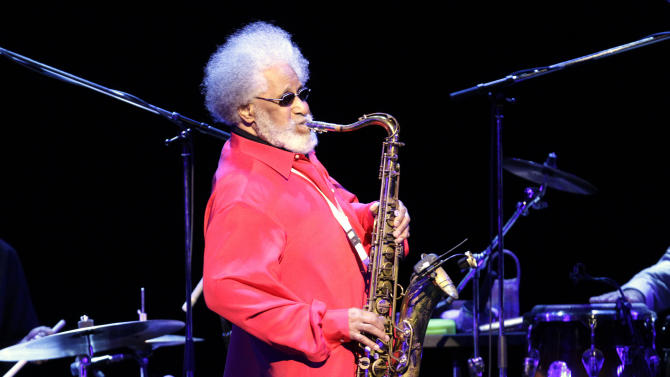 FILE - In this Oct. 4, 2010 photo, jazz great Sonny Rollins performs during a concert in Tokyo. Rollins was a triple winner Wednesday, June 20, 2012 at the annual Jazz Awards, garnering musician of the year honors for the second straight year. (AP Photo/Junji Kurokawa, File)