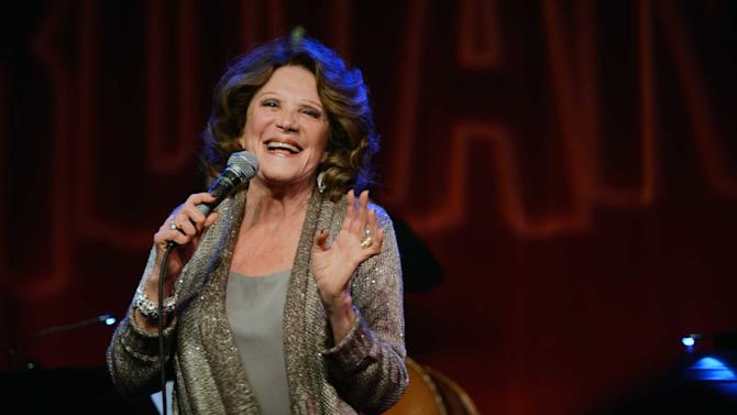 "This Monday, Feb. 25, 2013 photo released by the Pulmonary Fibrosis Foundation shows actress Linda Lavin performing at the third annual ""Broadway Belts for PFF!"" a benefit for the Pulmonary Fibrosis Foundation at the Birdland Jazz Club in New York. (AP Photo/Pulmonary Fibrosis Foundation, Chris Owyoung)"