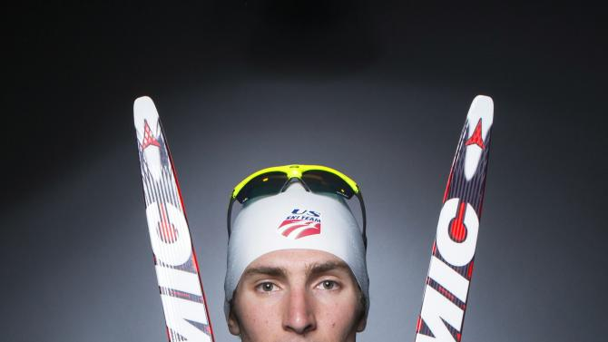 Olympic Nordic combined skier Taylor Fletcher poses for a portrait during the 2013 U.S. Olympic Team Media Summit in Park City, Utah