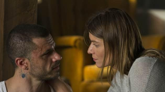 Christos Vasilopoulos and Ivana Milicevic in 'Banshee' Episode 8 -- Fred Norris/Cinemax