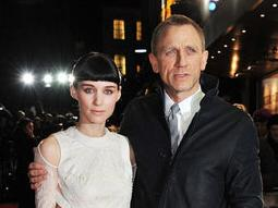 Rooney Mara and Daniel Craig at the London premiere of The Girl With the Dragon Tattoo on December 12, 2011. Photo by Jon Furniss, WireImage