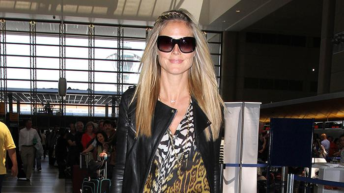 Heidi Klum leaves LAX on her way to Frankfurt