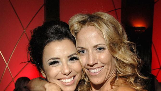 Eva Longoria and Sheryl Crow at the In Style and Warner Bros. 2007 Golden Globe After Party.
