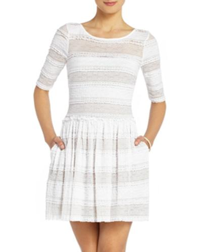 Lace Stripe Dress