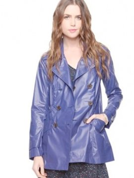 Coated trench coat
