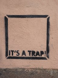 Marketing Recruitment is Broken Part 2: Expose Yourself to ART image cagliari its a trap grafitto